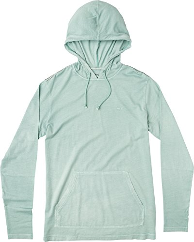RVCA Men's PTC Pigment Hooded T-Shirt, Grey Mist, XL (Pigment Mens)