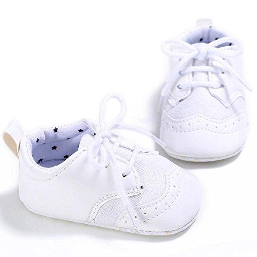 Zapatillas Zapatos suaves Internet de para bebés deporte Blanco r4wqUr