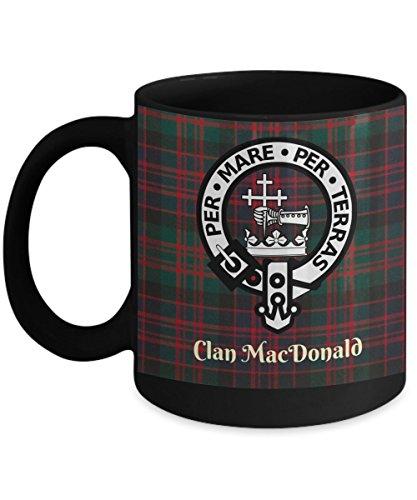 Clan Donald Mug Black - Clan Tartan Gifts - Scottish Gifts