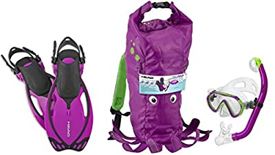Head by Mares Italian Collection Premium Youth Sea Pals Character Kids Mask Fin Snorkel Set Snorkeling Gear