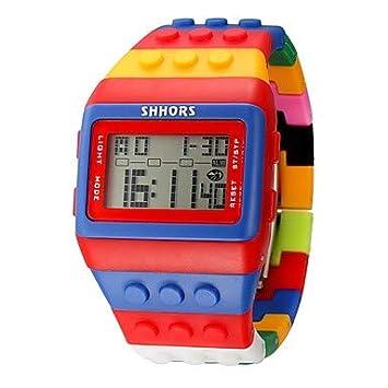 Relojes de hombre Mujer Reloj digital Digital Cronógrafo Creativo Silicona Banda Digital Vintage Casual Negro / Blanco / Rojo - Amarillo ...