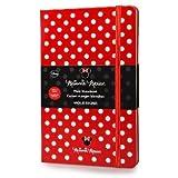 Cuaderno De Minnie Mouse (Tamaño Grande, Páginas Lisas), Color Rojo