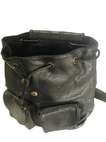 en à italien sac noir cuir à dos ou à GERMAN dos sac main sac fxv60U