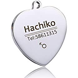 Free Engraving Stainless Steel Pet Cat Collar Accessories Customized Dog Cat ID Tag Name Telephone Multiple Languages AA08 11 L