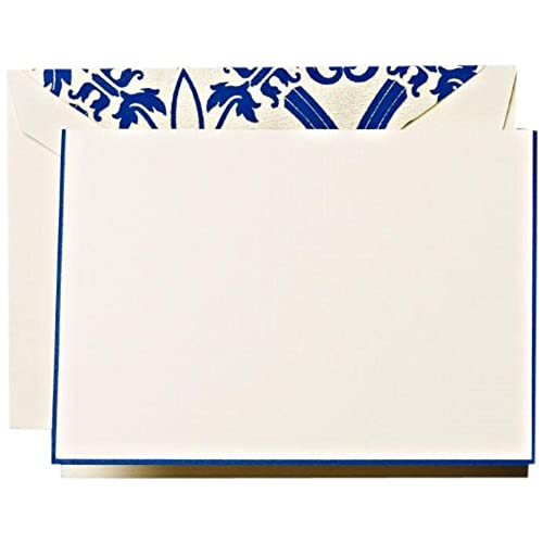 Regent Blue Hand Bordered Regency Notes (CF1312)