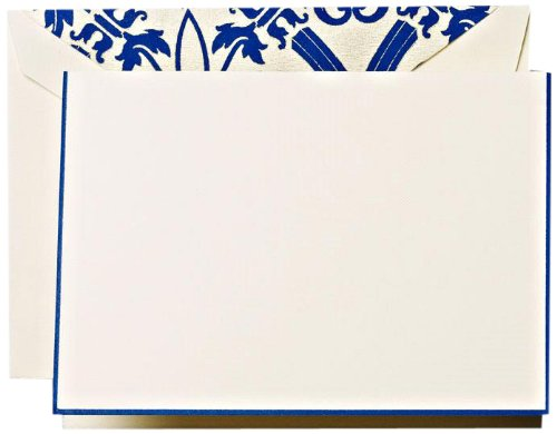 Crane & Co. Regent Blue Hand Bordered Regency Notes (CF1312)