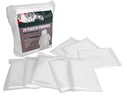 Noe&Malu Disposable Emergency Clear Rain Poncho for Adults - 20 -