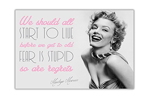 MARILYN MONROE LIVE QUOTE CANVAS PRINTS WALL ART PICTURES ROOM DÉCOR ...