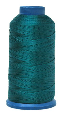 Mandala Crafts Bonded Nylon Thread for Sewing Leather, Upholstery, Jeans and Weaving Hair; Heavy-Duty; 1500 Yards Size 69 T70 (Teal)