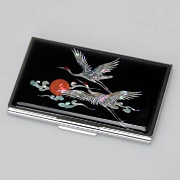 MOP American Eagle Design Business Credit Name ID Card Case Black Wallet Holder