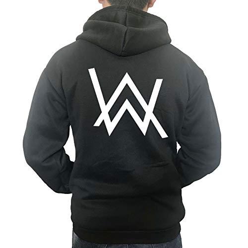 Moniku Alan Walker Logo Unisex Zip Hoodies Cosplay Costome (Small, Black) (Best Of Hoodie Allen)