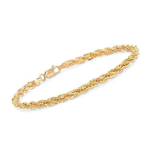 Fancy Rope Bracelet (Ross-Simons 14kt Yellow Gold Rope Bracelet)