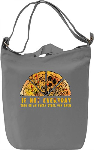 Pizza Borsa Giornaliera Canvas Canvas Day Bag| 100% Premium Cotton Canvas| DTG Printing|