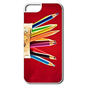 IPhone 5/5S Covers, Color Pencil White Cover For IPhone 5/5S