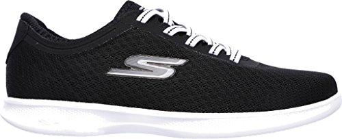 Skechers Womens GO STEP Lite - Dashing, Walking, Black/White, 10 W US