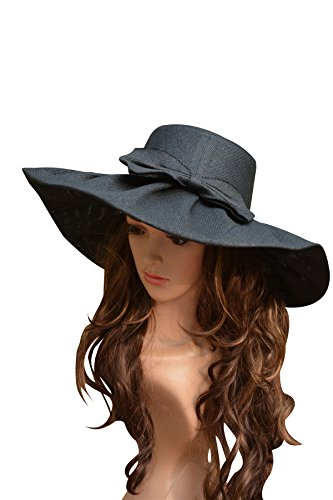 bda069a4 Lawliet Linen Summer Womens Kentucky Derby Wide Brim Sun Hat Wedding Church  Sea Beach A047