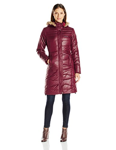 (Arctix Women's Peacock Quilted Long Coat Jacket, Tawny Port, Small)