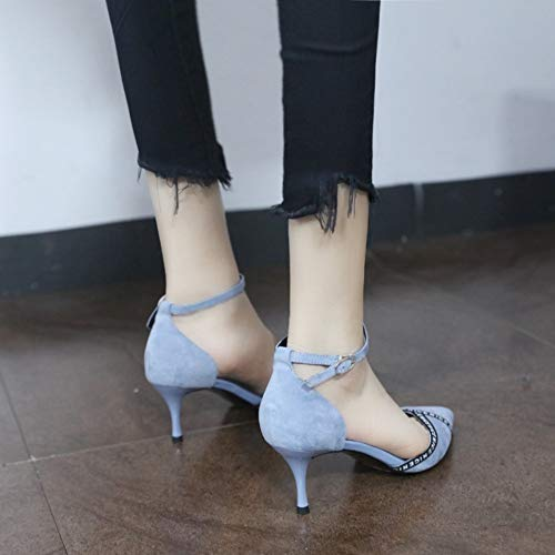 6cm 39 Souligné Aiguilles Boucle Printemps Mode Mot La 37 Peu De Femmes Chaussures Bouche Simples Profonde Zzdsh Lettre Talons A aHqXxTw