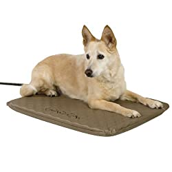 """K&H Pet Products Lectro-Soft Outdoor Heated Pet Bed Medium Tan 19"""" x 24"""" 40W"""