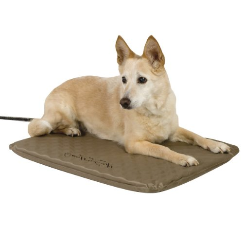 K&H Pet Products Lectro-Soft Outdoor Heated Pet Bed Large Tan 25'' x 36'' 60W by K&H Pet Products
