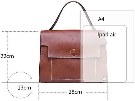 Womens Leather Bag Square Shoulder Bag Handbag Flip Cover