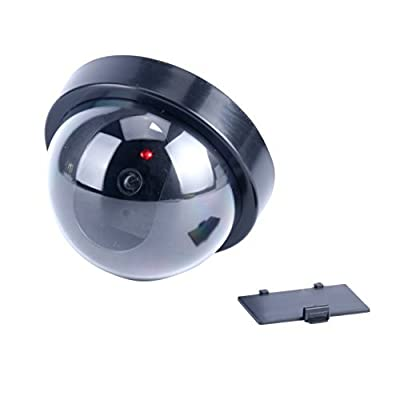 9milelake 4 Pack NEW Dummy Fake Security Cctv Dome Camera with Flashing Red LED Light