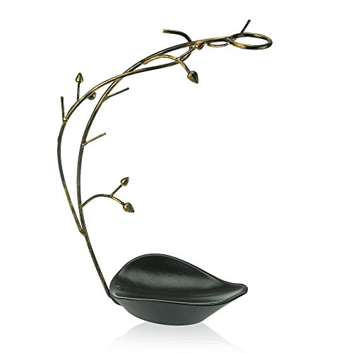 Geff House Vine Jewelry Tree Organizer, Stylish Display Stand for Necklaces, Bracelets, Earrings and Wedding Rings (Antique)