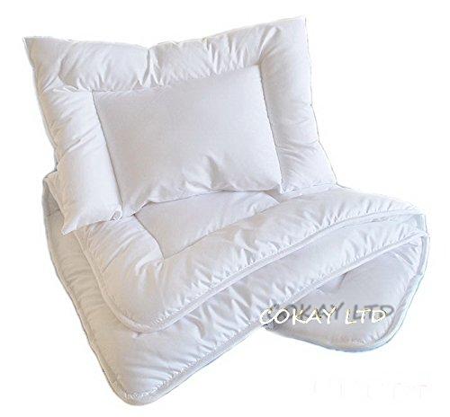 MDSS Luxury 2 pcs BABY BEDDING SET/PILLOW+ DUVET to fit cot or cot bed DUVET SIZE 120 x 90cm COKAY LTD