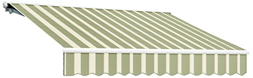 UPC 731478919968, Awntech 8-Feet Galveston Semi-Cassette Left Motor with Remote Retractable Awning, 84-Inch Projection, Sage/Cream