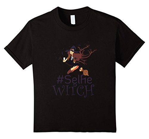 Kids Selfie Witch T Shirt Funny Halloween Gift 4 (Offensive Halloween Costumes For Kids)