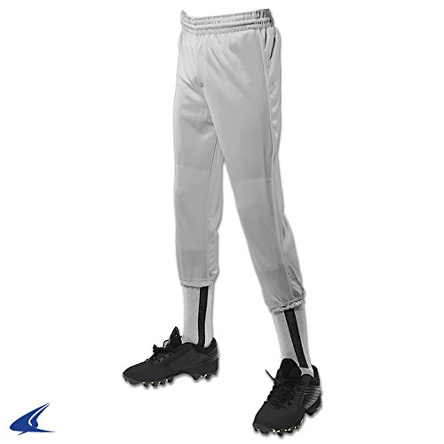 CHAMPRO Youth Performance Pull-Up Baseball Pant Gray XS by CHAMPRO