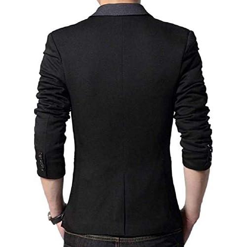 41%2BEbxFgOzL. SS500  - Menjestic Men's Slim Fit Blazer With Grey Lapel