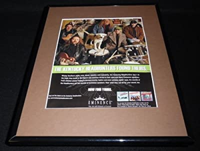 Kentucky Headhunters 2007 Eminence Framed 11x14 ORIGINAL Vintage Advertisement