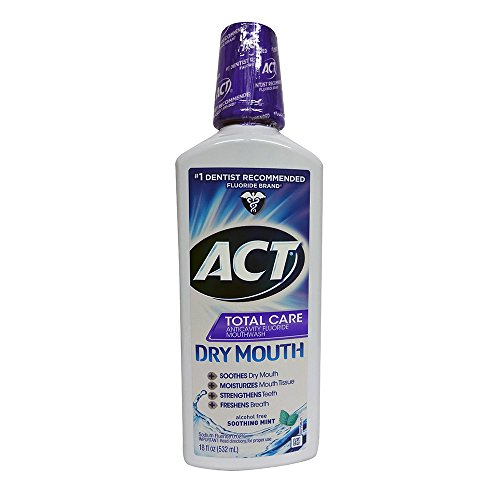 ACT Total Care Dry Soothing Mouthwash, Mint, 18 Ounce by ACT