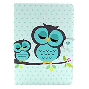 WEV Sleeping Owl Pattern Full Body Case with Stand for Samsung Galaxy Tab S 10.5 T800