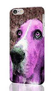 """Basset Hound Art Personalized Diy Custom Unique 3D Rough Hard Case Cover Skin For iPhone 6 Plus 5.5"""" inches, Design By Graceworld"""