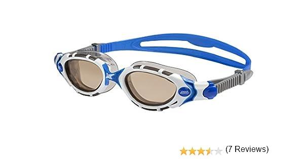 e7e584f3bf9 Amazon.com   Zoggs Predator Flex Polarized Goggles White Blue Bronze  Small Medium   Sports   Outdoors