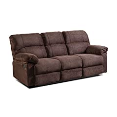 Set includes: manual recliner Materials: Chenille and plywood Material Content: 100% polyester Construction on seat: 4 cms High density foam on top and 7cms Individually Wrapped Coil Springs Construction on arm:100% fiber Fabric Color: Cocoa ...