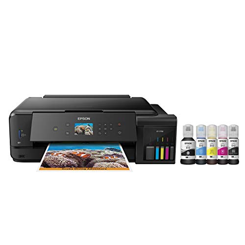Epson Expression Premium ET-7750 EcoTank Wireless Wide-format 5-Color All-in-One Supertank