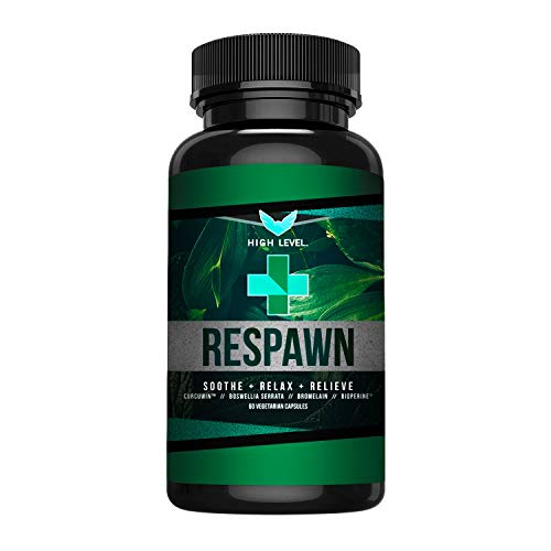 High Level Respawn | Turmeric/Curcumin, Boswellia Serrata, Bromelain, Bioperine | Natural, Non-GMO Anti-Inflammatory | Soothing Joint Pain Relief | Eliminate Swelling | 60 Veggie Caps | Made in USA