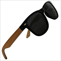 d8deff2cb2 Polarized Bamboo Sunglasses for Men   Women with 100% UV Blocking ...