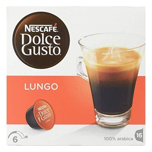 Nescafé Dolce Gusto Lungo – Juego de 16 unidades – intensidad 6 [1]: Amazon.es: Alimentación y bebidas