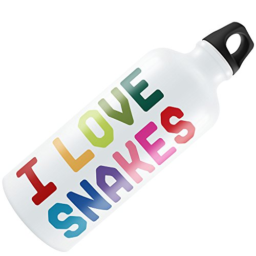 Water Bottle I Love Snakes,Colorful 20oz / 600ML