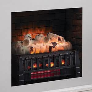 "Duraflame 20"" Infrared Birch Fireplace Insert/Log Set: Amazon.ca: Home & Kitchen"