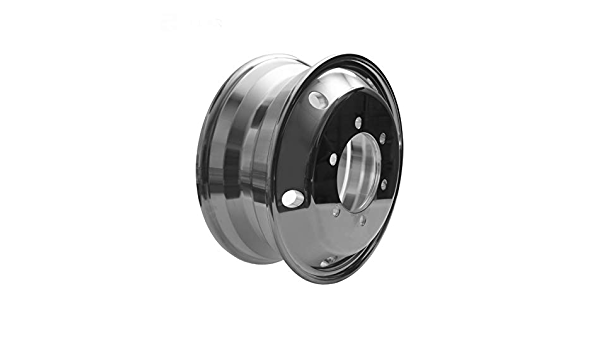 Tire Size 215//75R17.5 Hight Polished for Steer Position Aluminum Wheels 17.5X6.00 6 Holes x 205mm PCD for Dump Truck Lifted Axle