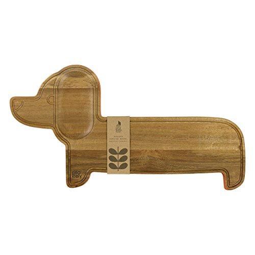 (Orla Kiely AOK401 Dachshund Reversible Acacia Wood Serving and Cutting Board, One Size, Persimmon)