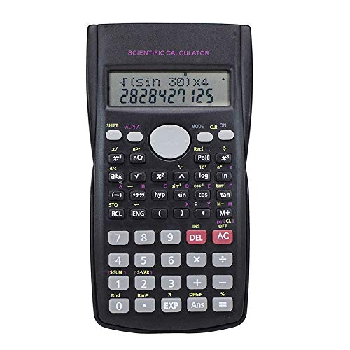 Standard Scientific Calculator, 2 Lines Engineering Scientific Calculator with Slide Off Case