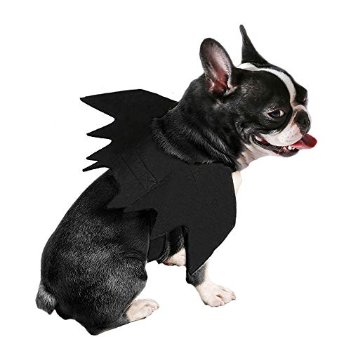 ZOOPOLR Bat-Dog Costume for Dogs, Bat Wing Party Pet Dress Up Halloween Costume Halloween Atmosphere for Dogs
