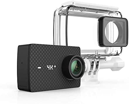 714a3c6ceb6 YI 4K+/60fps Action Camera with Waterproof Case, Plus Voice Control and  12MP RAW Image (Black)