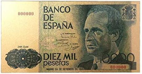 IMPACTO COLECCIONABLES Juan Carlos I. Billete de 10.000 Pesetas en Oro de 24k.: Amazon.es: Juguetes y juegos
